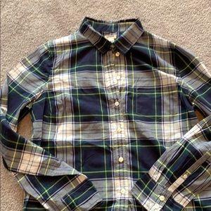 I crew plaid shirt